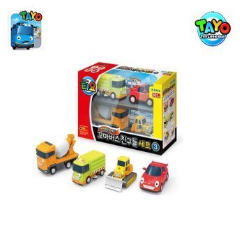 TAYO MINI CAR SET 4 STYLES 3 (BILLY,SPEED,RUBBY,CHRIS)